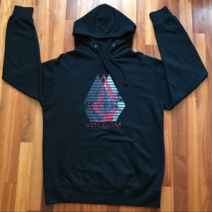 VOLCOM Hoodie Pullover Sweater Men's Large Black